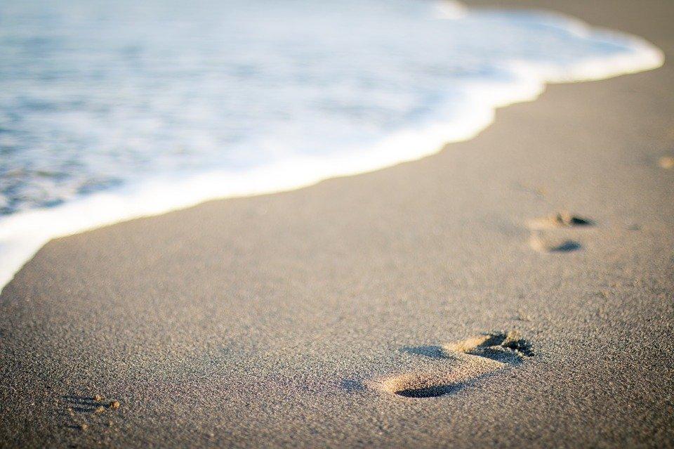 Zee, strand, zomer, voeten
